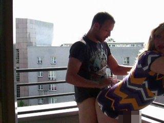 Arschfick auf dem Balkon - Privat Anal Porno